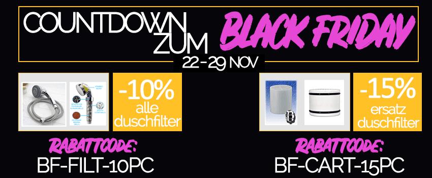DuschFilterShop.de - DuschFilter Black Friday Angebot